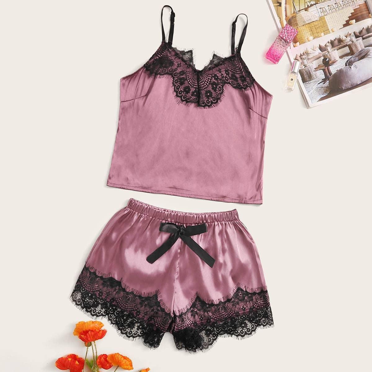 Roze  Casual Lounge kleding Geknoopt