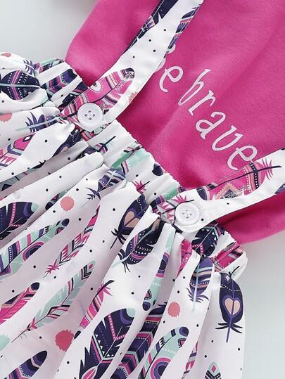 Фото 7 - Платье на кулиске с лиственным принтом от SheIn цвет многоцветный