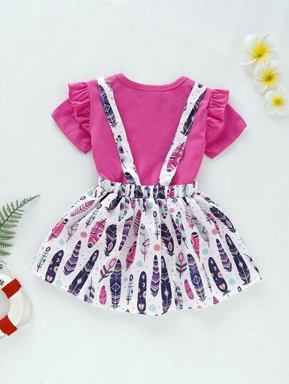 Фото 8 - Платье на кулиске с лиственным принтом от SheIn цвет многоцветный