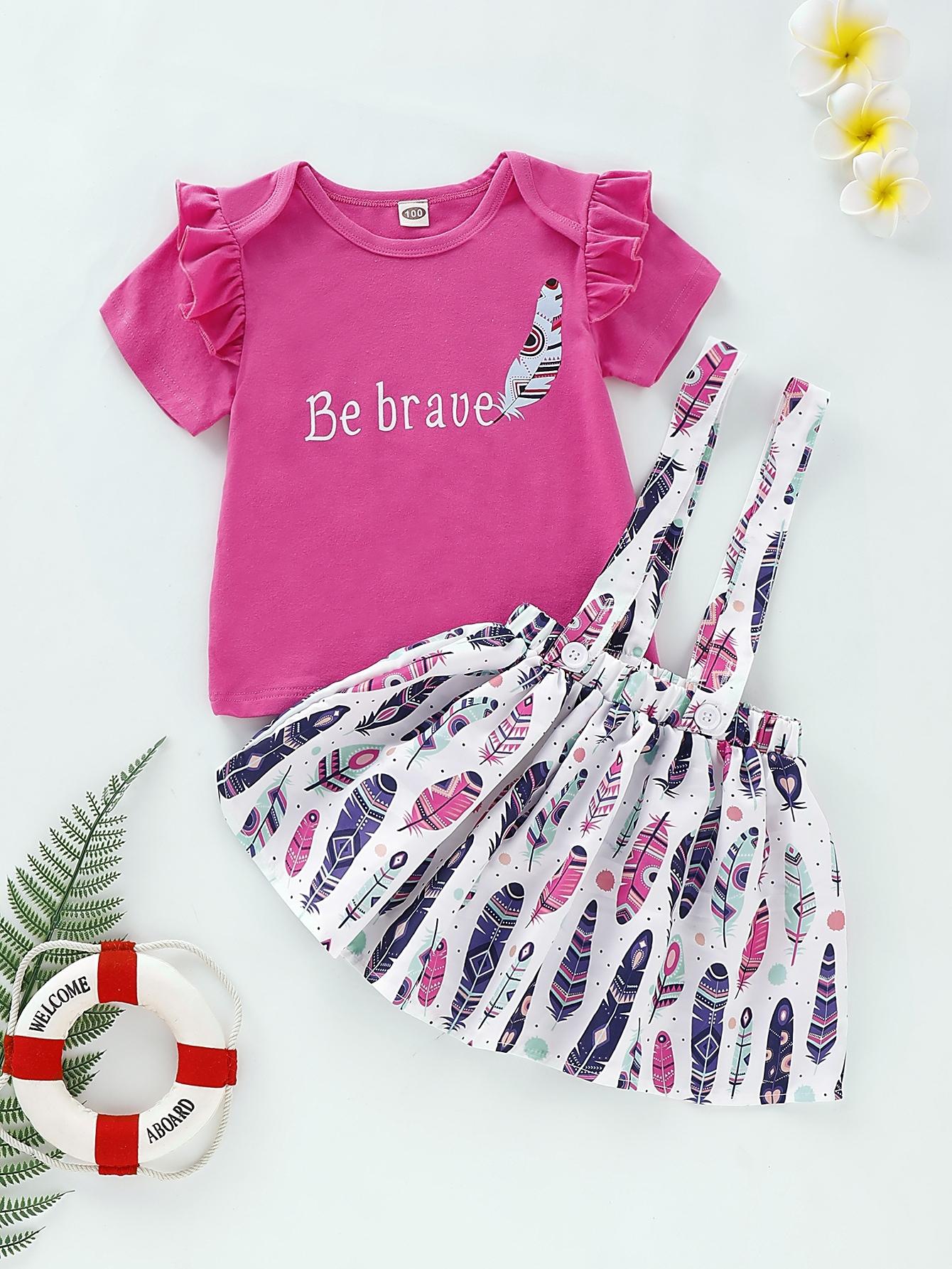 Фото 5 - Платье на кулиске с лиственным принтом от SheIn цвет многоцветный