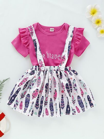 Фото 9 - Платье на кулиске с лиственным принтом от SheIn цвет многоцветный