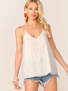 V-Neck Layered Swing Cami Tank Top
