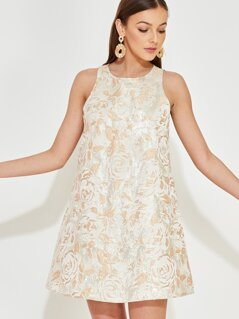 Jacquard Swing Dress