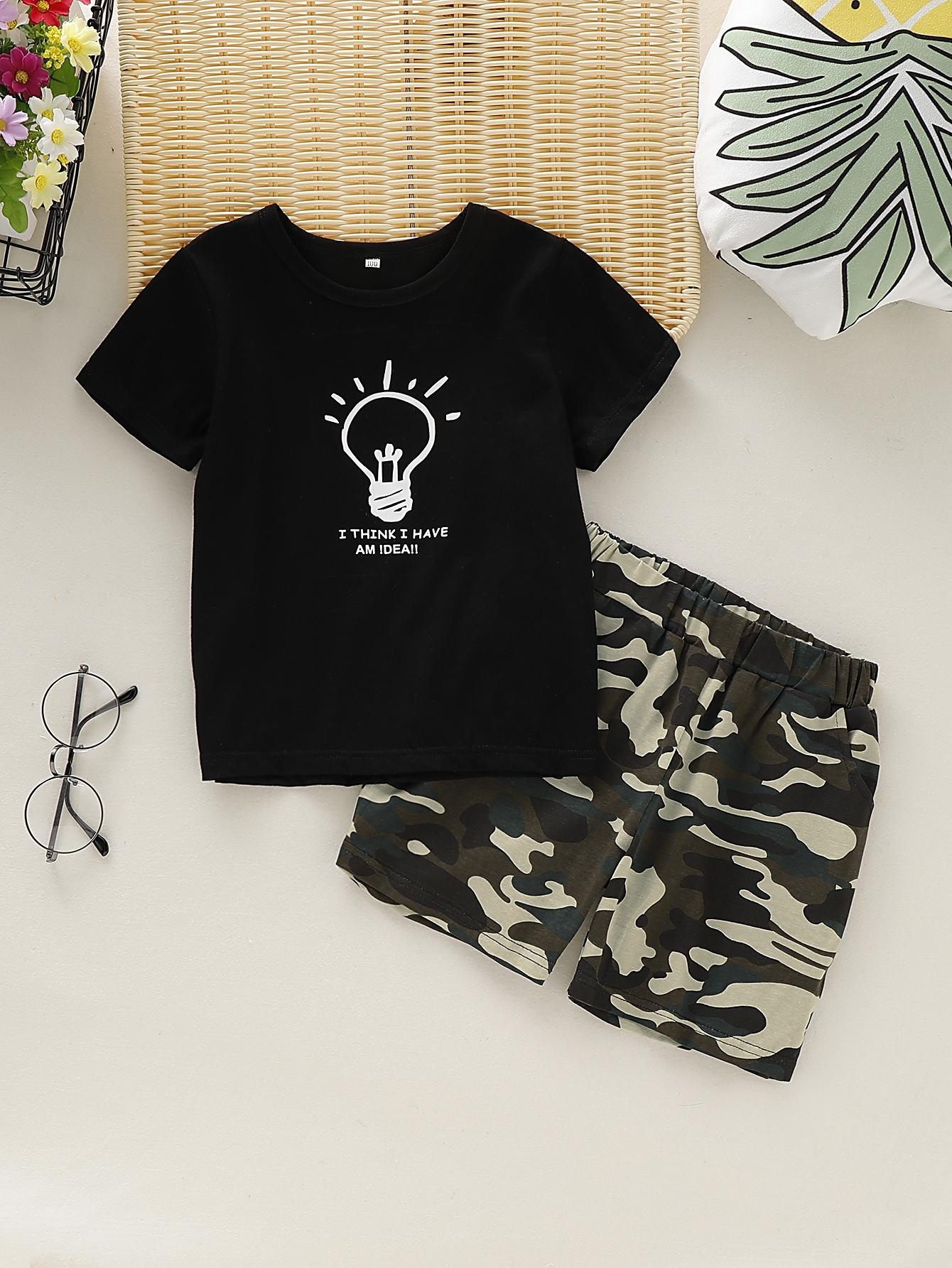 Фото - Мужские брюки с поясом и текстовым принтом от SheIn черного цвета