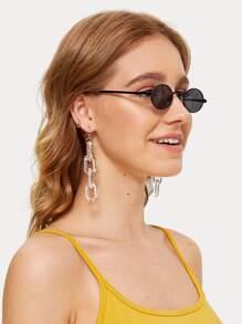 Oval Lens Sunglasses