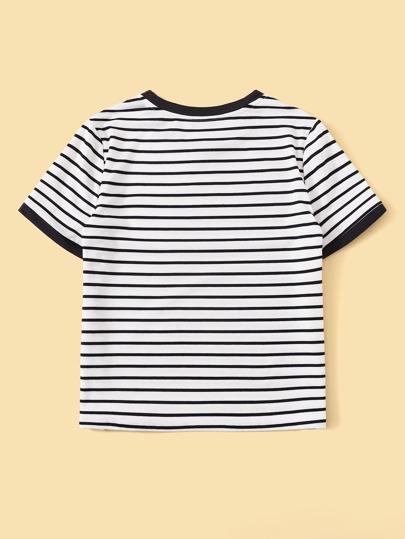 Фото 7 - Однотонная футболка с кулиской от SheIn белого цвета