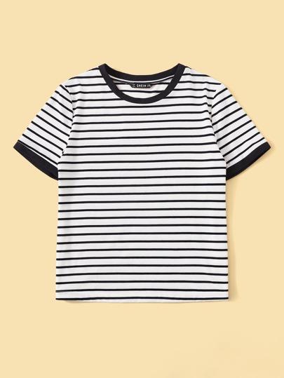 Фото 9 - Однотонная футболка с кулиской от SheIn белого цвета