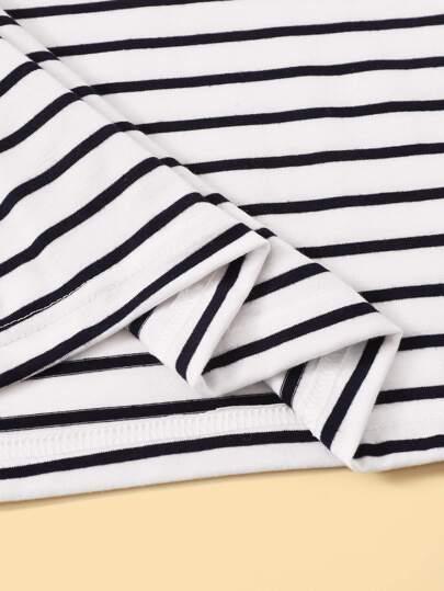Фото 10 - Однотонная футболка с кулиской от SheIn белого цвета