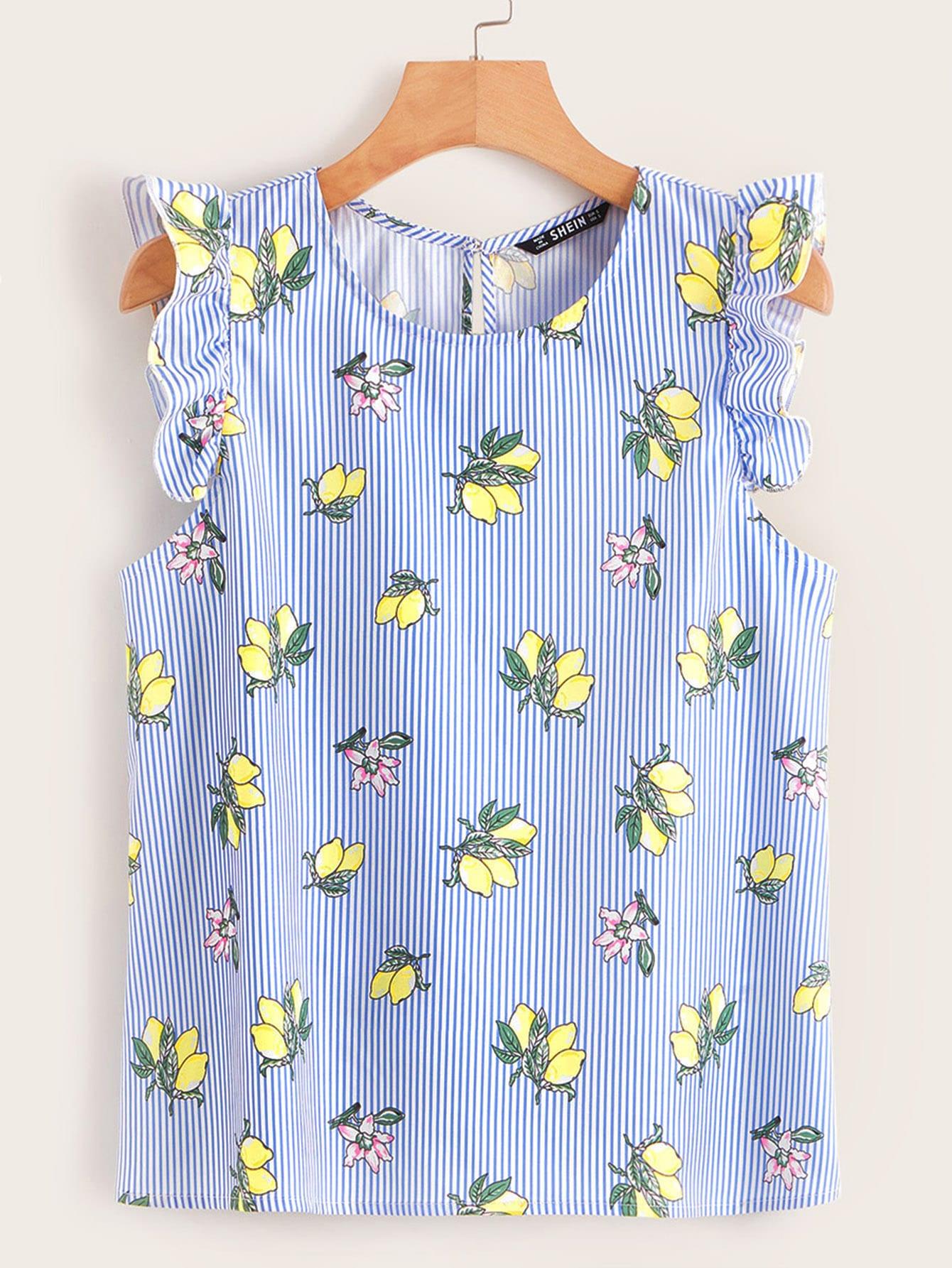 Фото - Асимметричное платье м завязкой и графическим принтом от SheIn цвет тёмно-синие