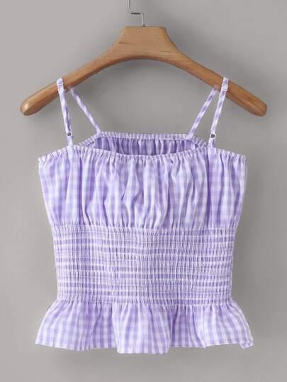 Фото 2 - Платье на кулиске с лиственным принтом от SheIn цвет многоцветный