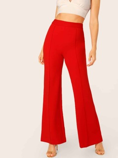 Center Seam High Waisted Wide Leg Pants