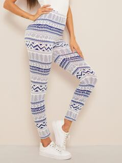 Tribal Print High Waist Leggings