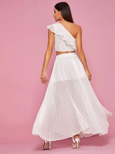 Фото 2 - Платье размера плюс с бантом и цветочным принтом от SheIn цвет многихцветные