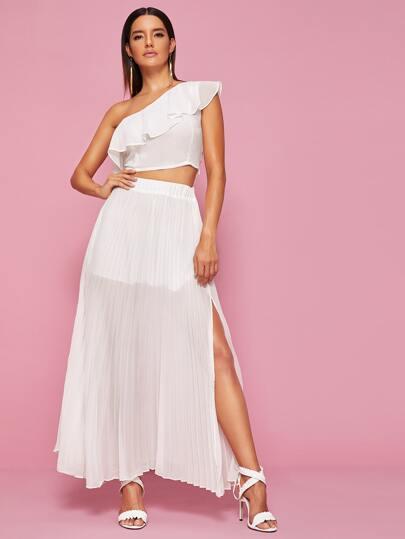 Фото 3 - Платье размера плюс с бантом и цветочным принтом от SheIn цвет многихцветные