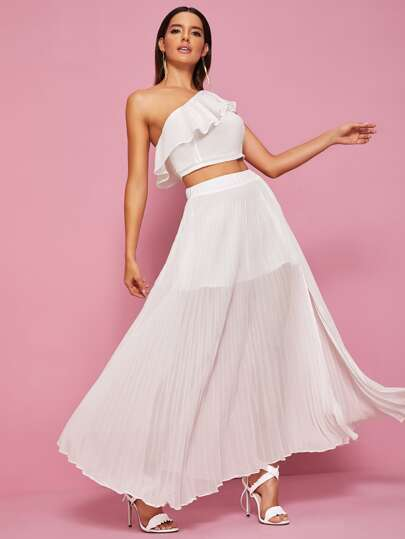 Фото 4 - Платье размера плюс с бантом и цветочным принтом от SheIn цвет многихцветные