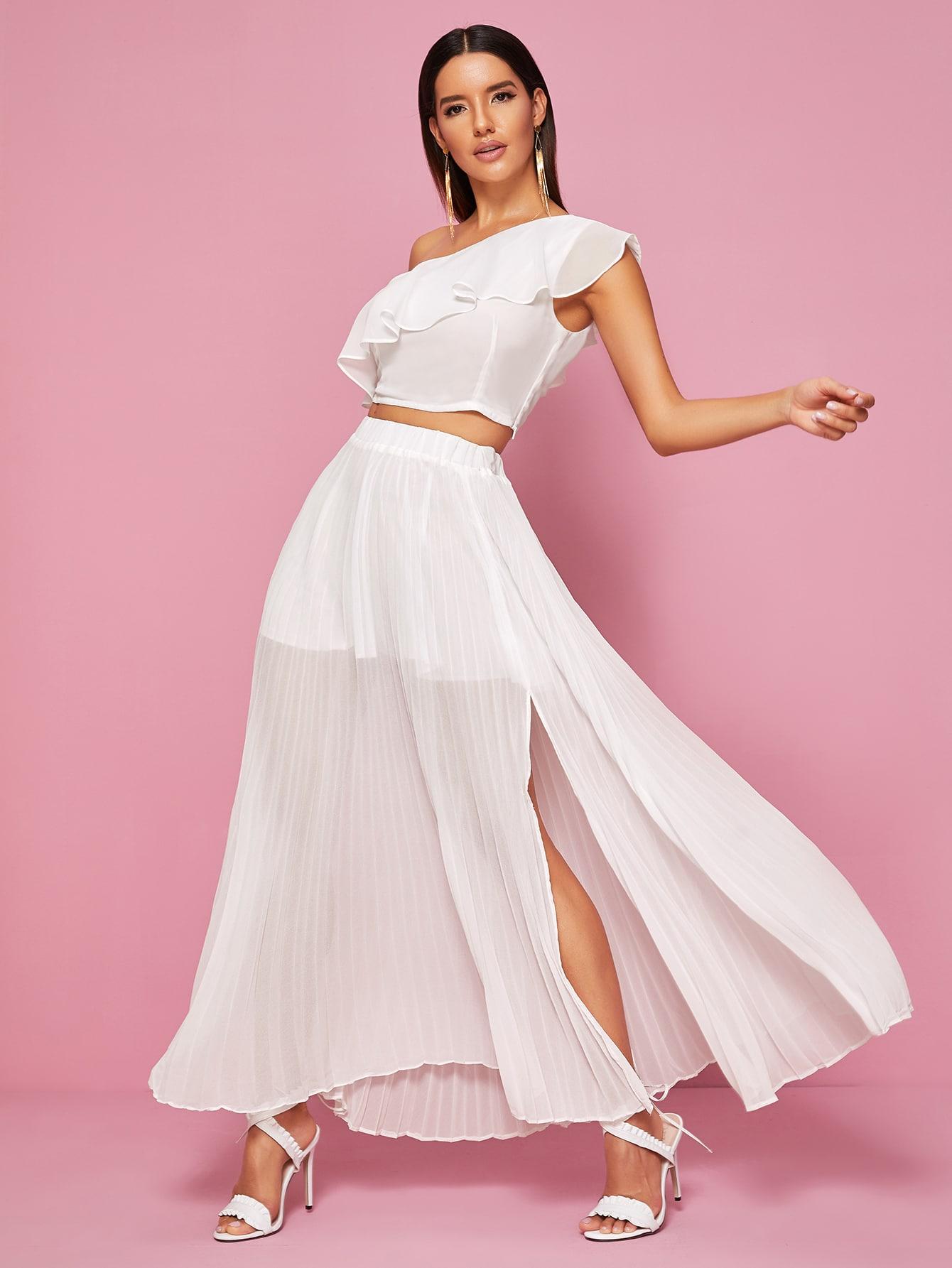 Фото - Платье размера плюс с бантом и цветочным принтом от SheIn цвет многихцветные