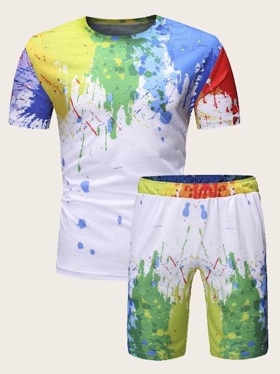 Фото - Мужские футболка и шорты от SheIn цвет многоцветный