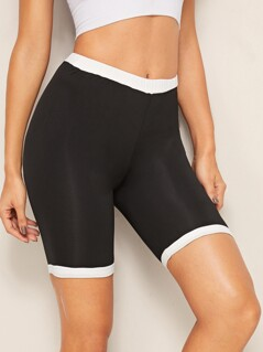 Contrast Trim Cycling Shorts