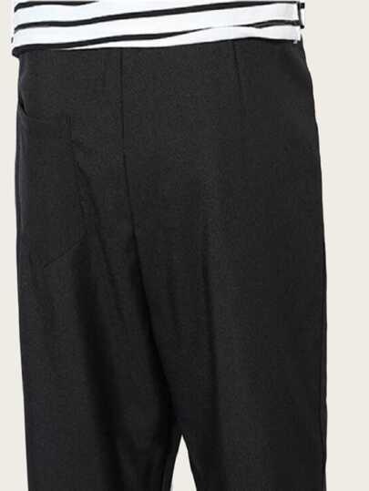 Фото 5 - Шорты-юбка с эластичной талией от SheIn желтого цвета