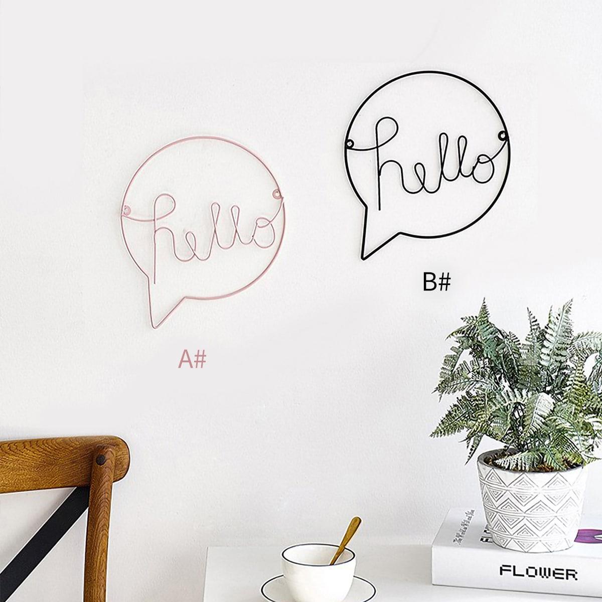 Letterontwerp ijzeren muurdecoratie 1 st