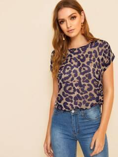 Cuffed Leopard Print Top