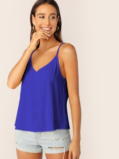 Double V Neck Cami Top