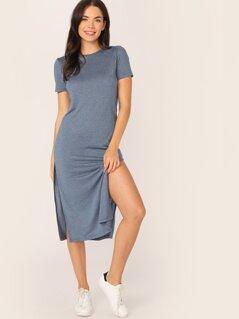 Solid Split Side Dress