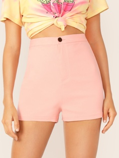 High Waist Fitted Shorts