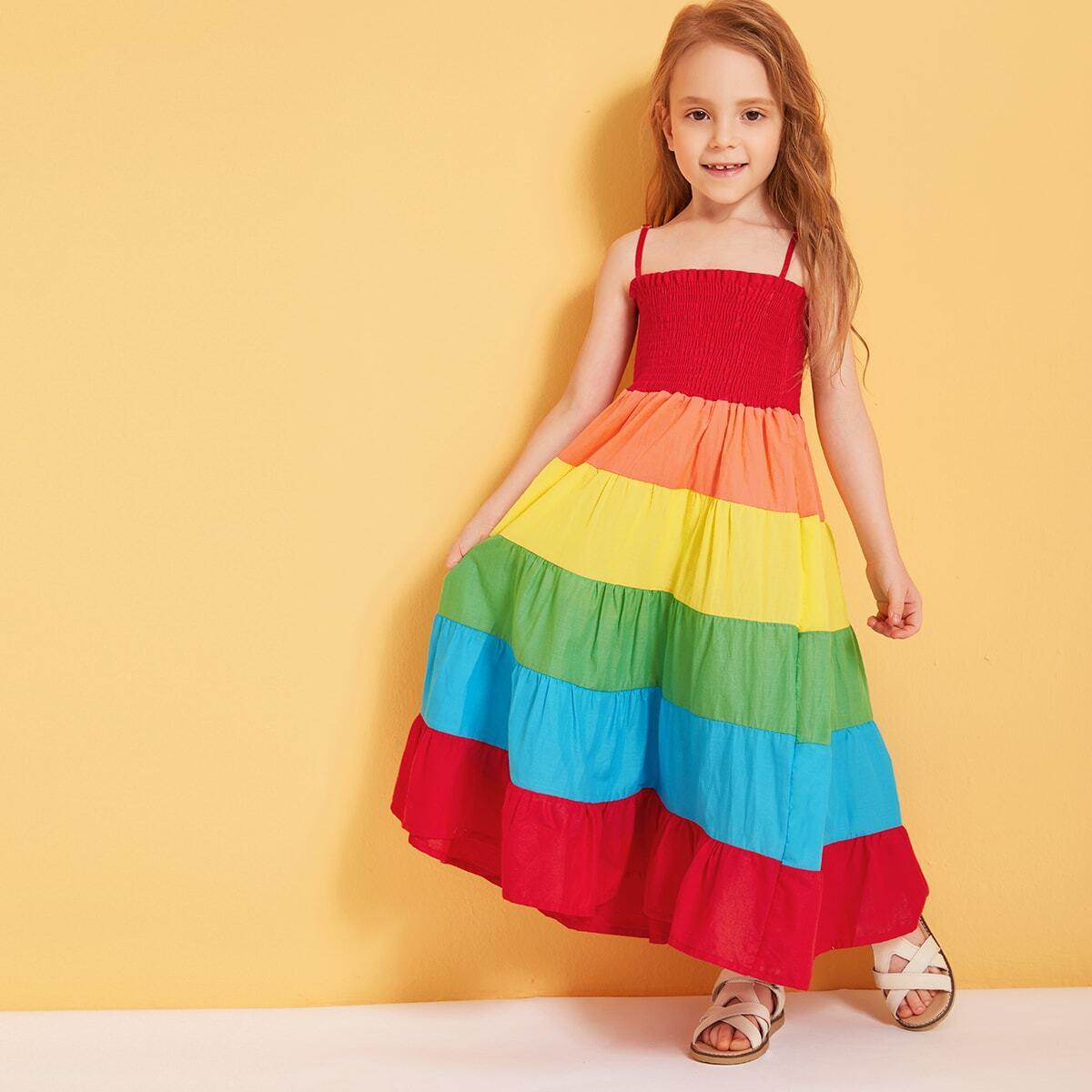 SHEIN / Kleinkind Mädchen Cami Kleid mit Regen