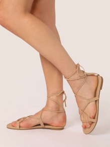 Nude Boho Sandals, size features are:Bust: ,Length: ,Sleeve Length: