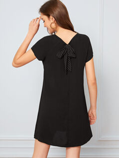 Tie Back Raglan Sleeve Dress
