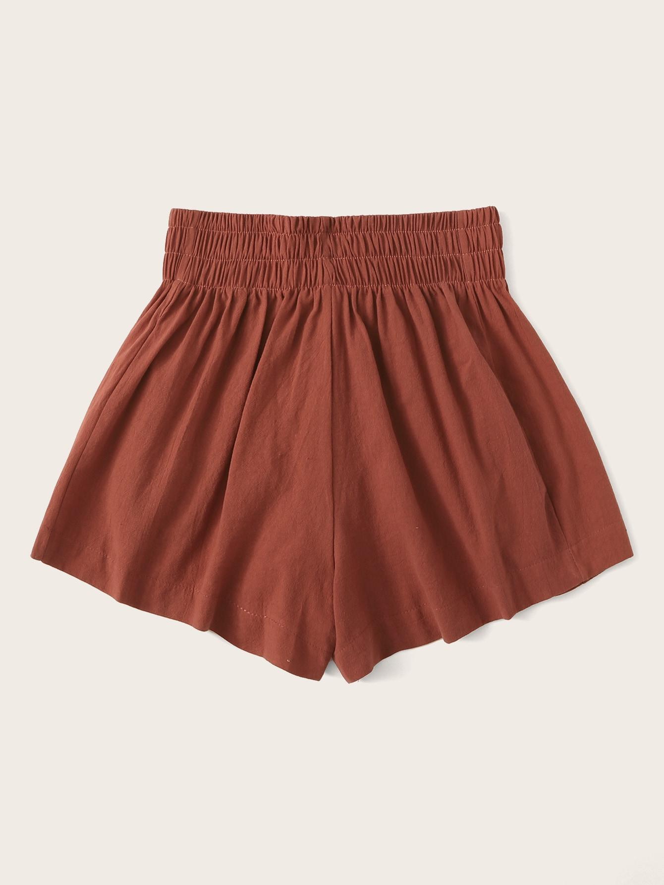 SHEIN / Shorts sólidos de cintura alta