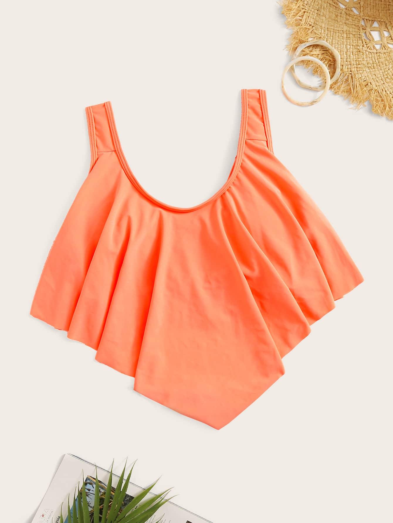 Фото - Топ для плавания от SheIn оранжевого цвета