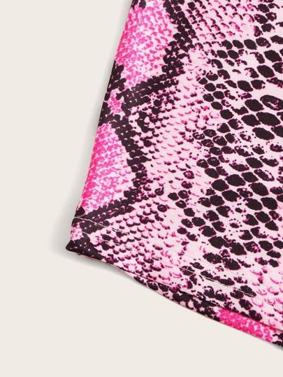 Фото 8 - Комбинезон с оригинальным рукавом и поясом от SheIn цвет многоцветный