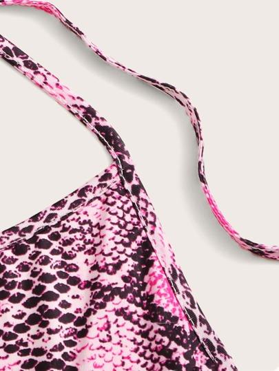 Фото 9 - Комбинезон с оригинальным рукавом и поясом от SheIn цвет многоцветный
