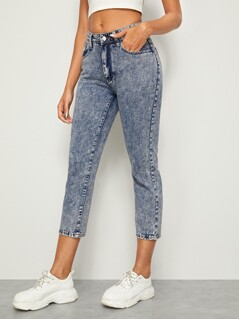 5-pocket Crop Jeans