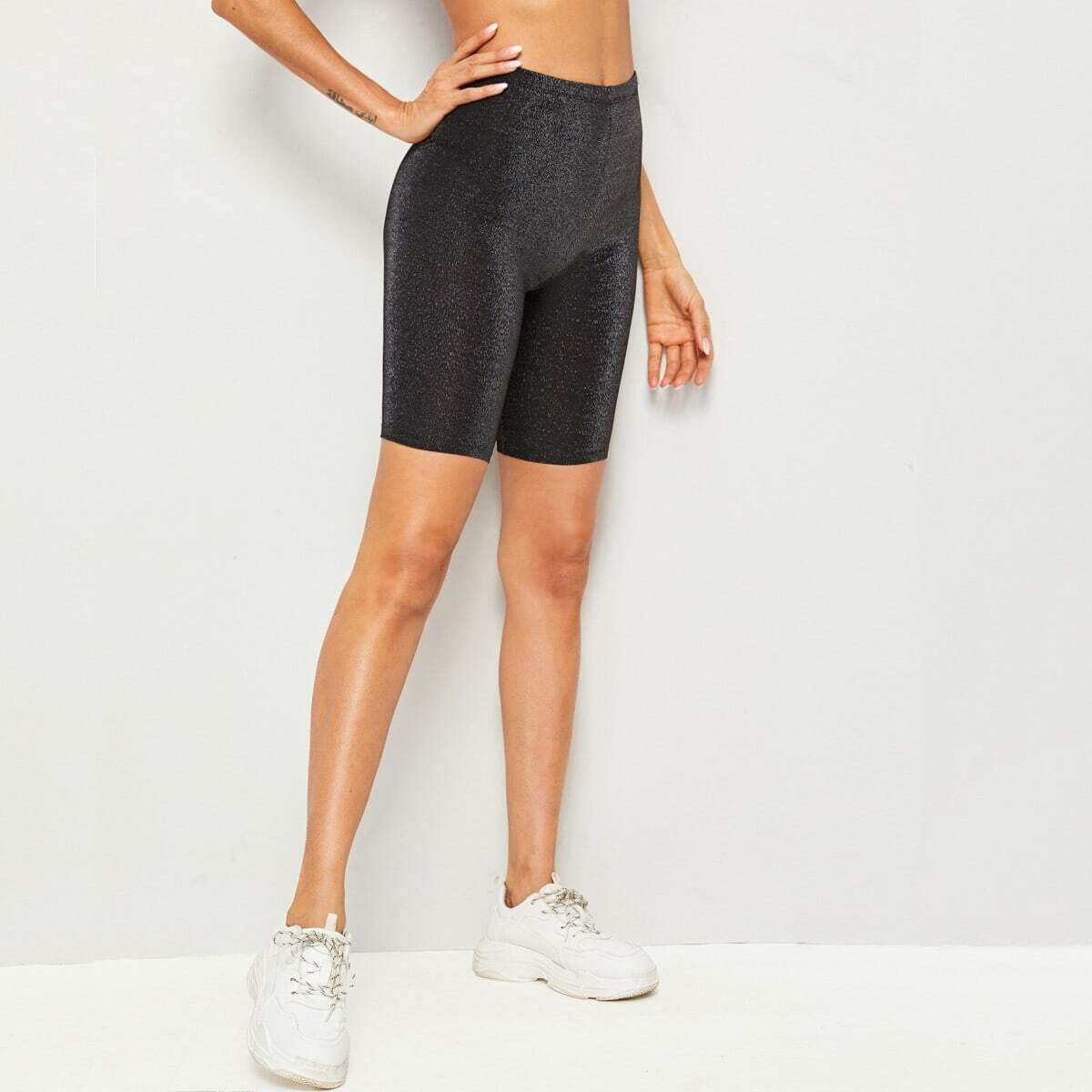 SHEIN / Shorts ciclistas brillantes