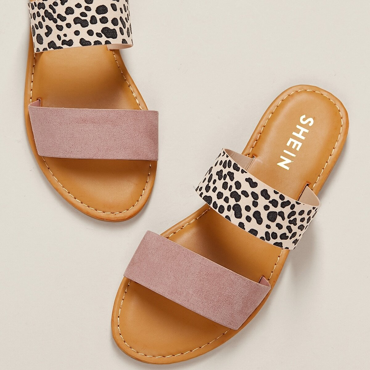 Veel kleurig Comfortabel Luipaard Sandalen