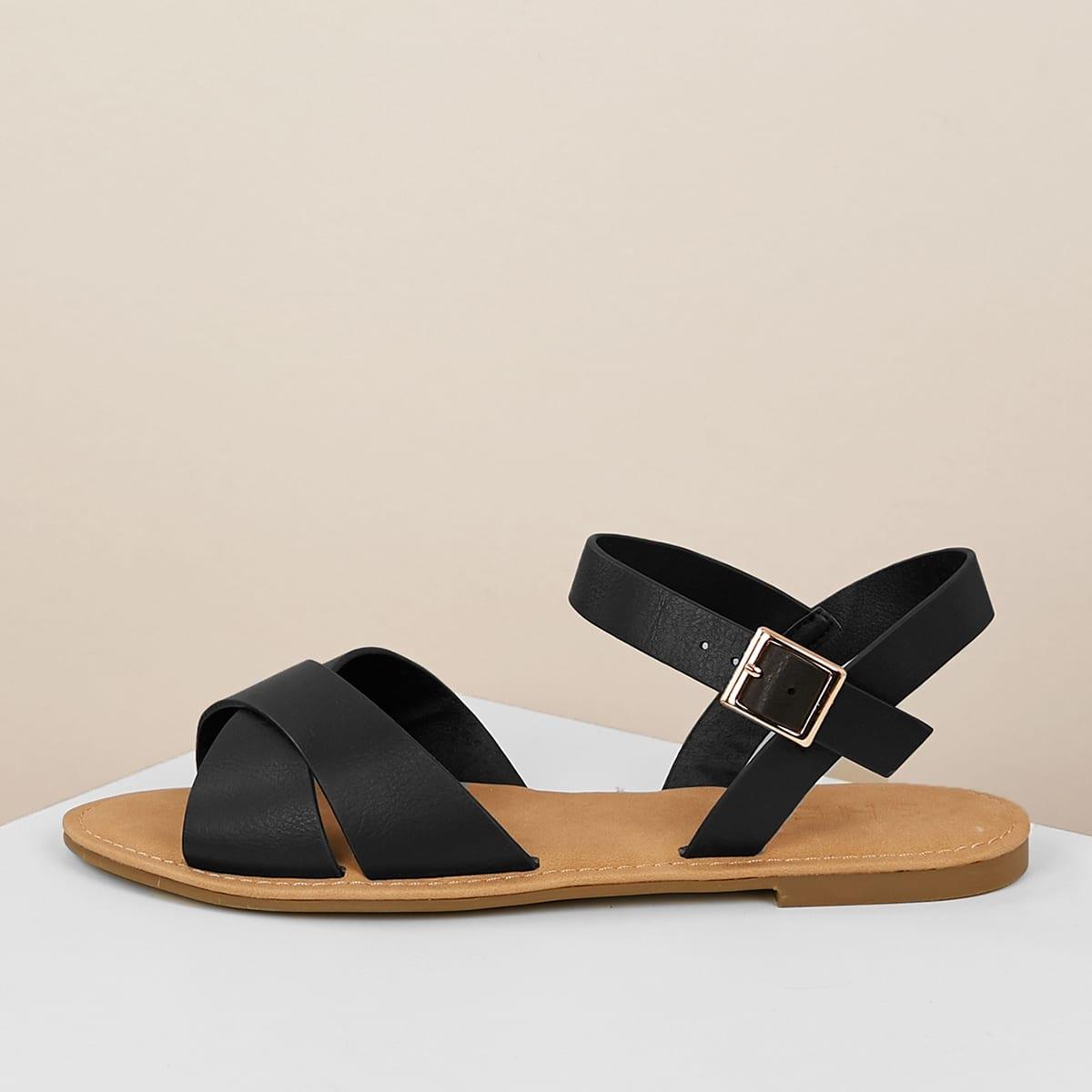 Zwart Comfortabel Sandalen