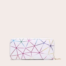 Geometric Print Zip Around Purse (swbag03190603438) photo
