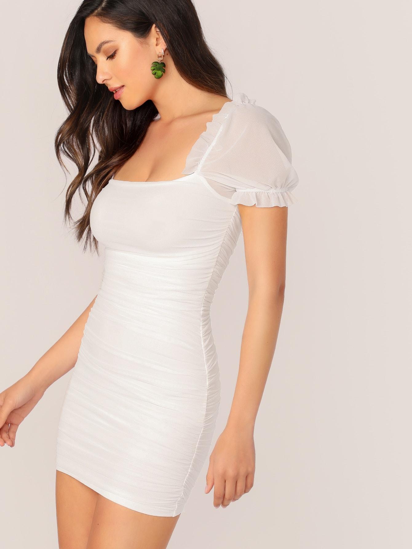 Фото 5 - Контрастная блуза размера плюс с оригинальным рукавом от SheIn цвет чёрные