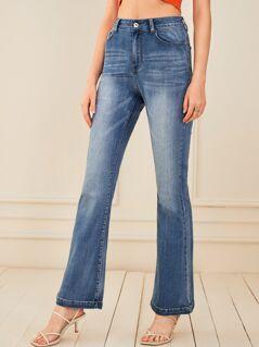 High Waist Flare Leg Jeans