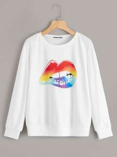 Mouth Print Sweatshirt
