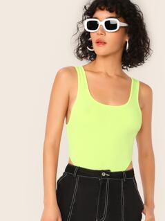 Neon Lime High Leg Bodysuit