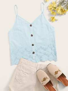 Button Front Schiffy Cami Top