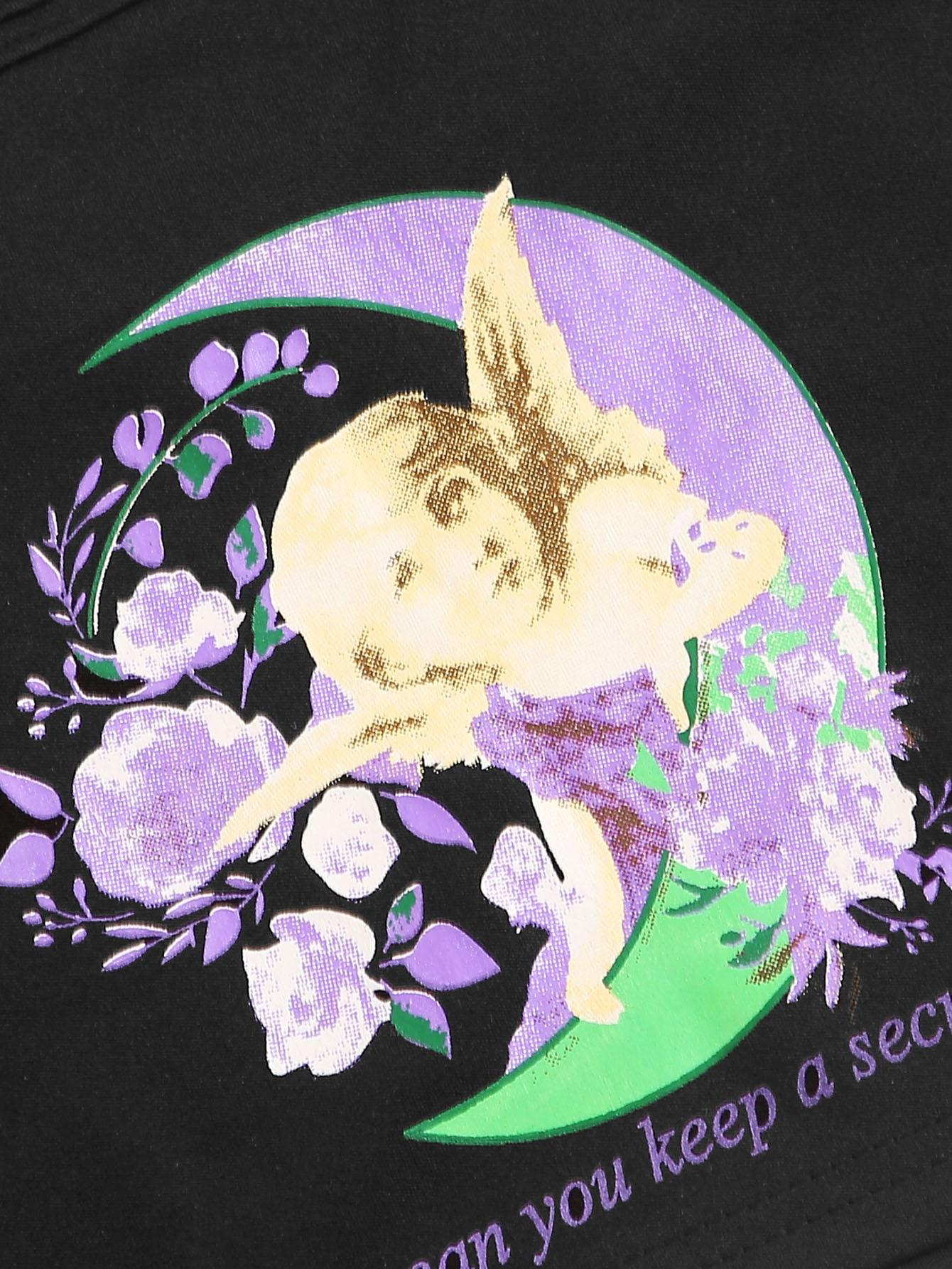 SHEIN / Top de tirante con estampado de ángel y letra