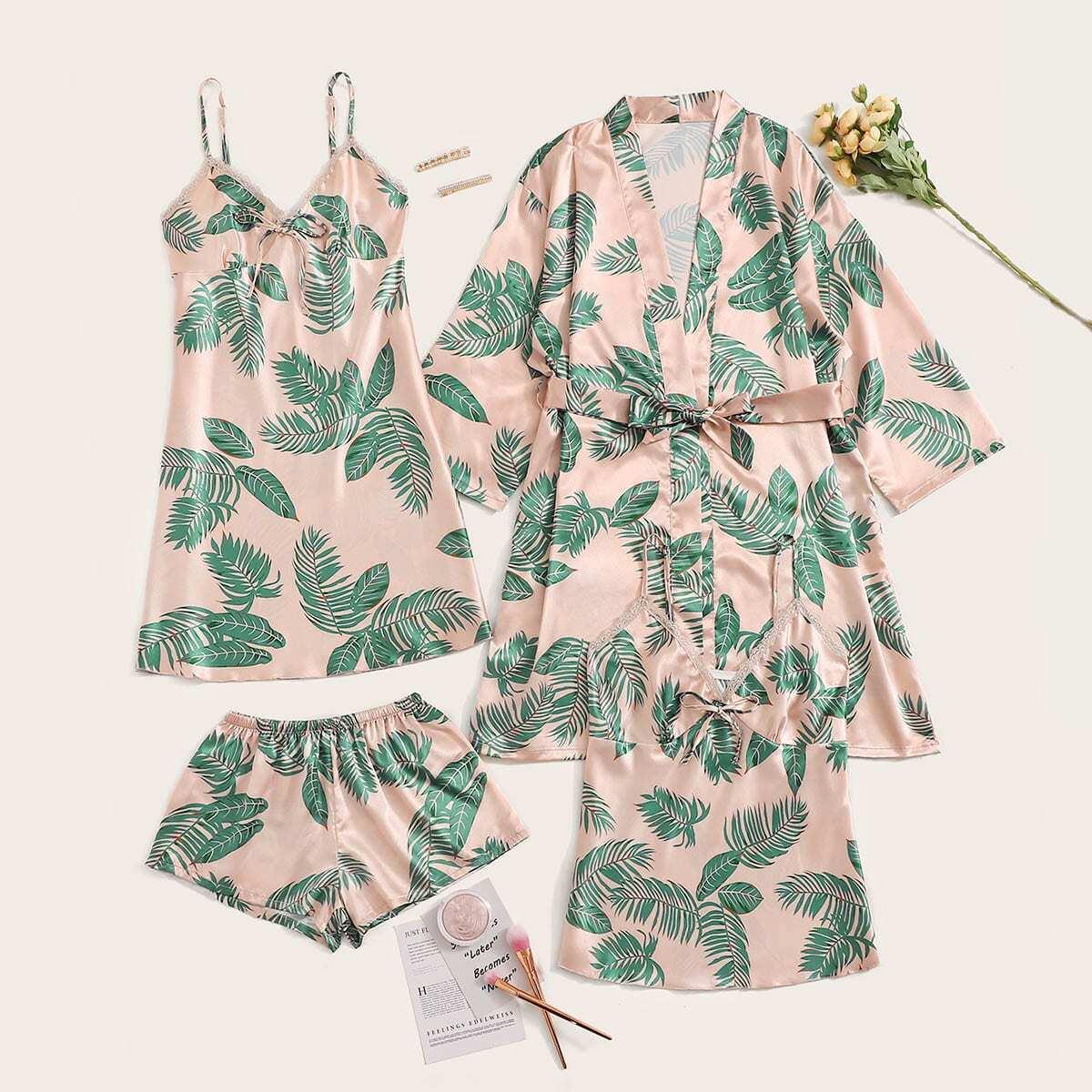 Veel kleurig Casual Tropisch Lounge kleding Riem