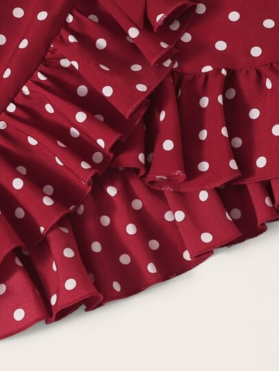 Фото 4 - Многослойное платье с глубоким вырезом от SheIn цвет фиолетовые