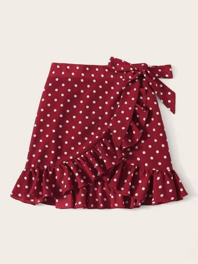 Фото 5 - Многослойное платье с глубоким вырезом от SheIn цвет фиолетовые