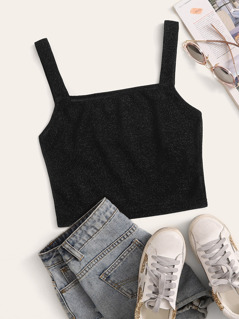 Fitted Glitter Crop Top